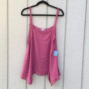 NWT Intimately free people pink tank top